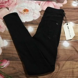 NWT rag & bone New York black Bruin skinny jeans